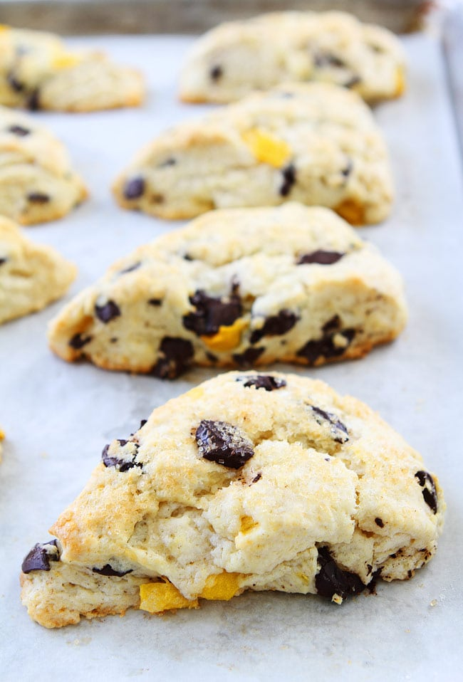 Mango Dark Chocolate Chunk Scones Recipe