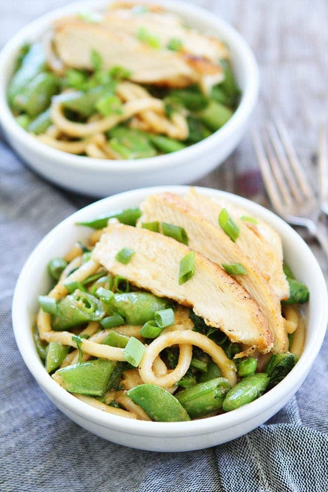 Chicken and Miso Udon Noodles