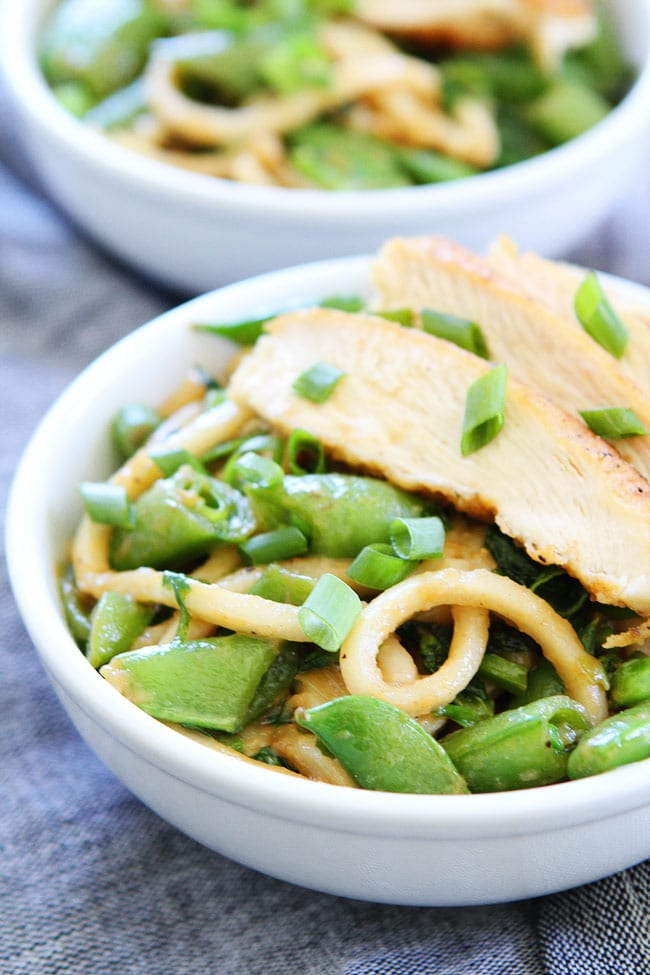 Chicken and Miso Udon Noodles Recipe