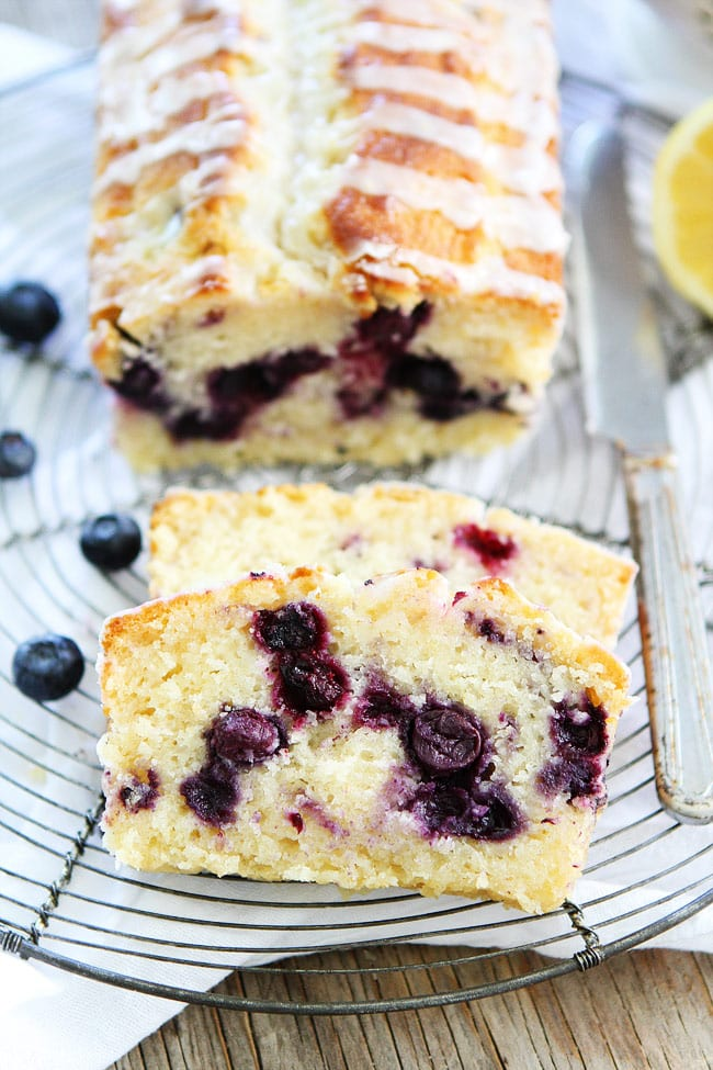 Lemon Blueberry Loaf Cake Recipe Two Peas Their Pod