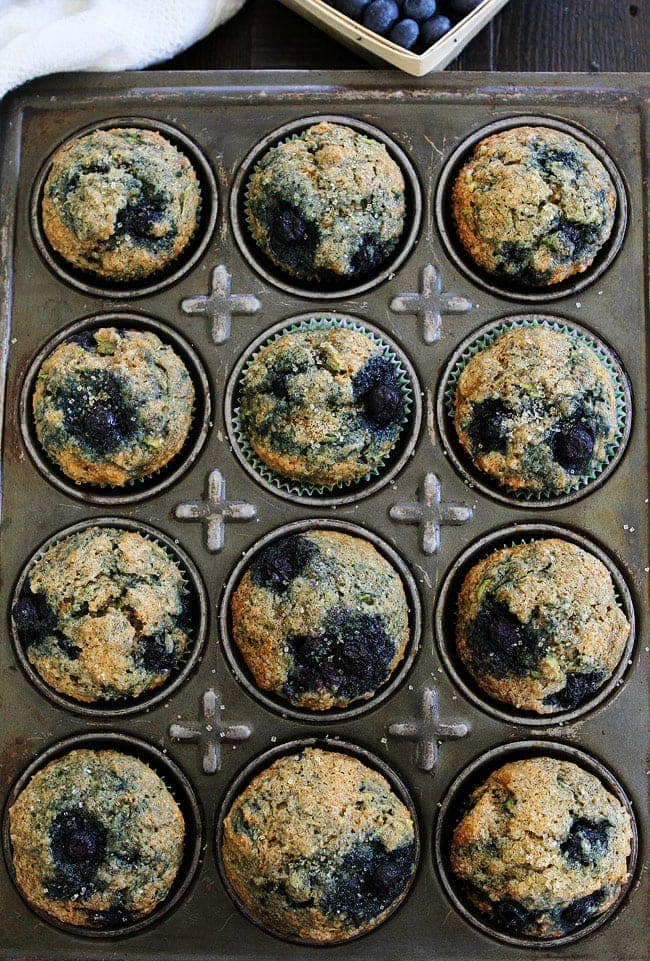 Zucchini Banana Blueberry Muffin Recipe