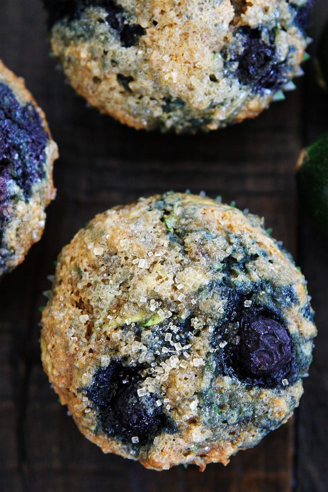 Zucchini Banana Blueberry Muffins