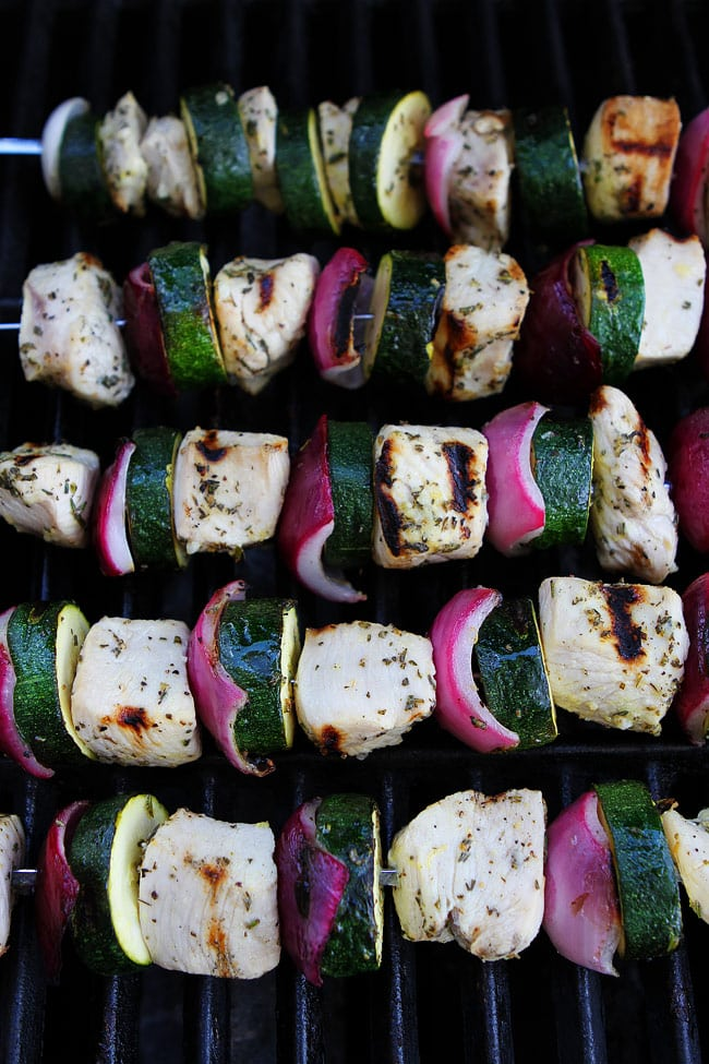 Grilled Chicken and Zucchini Kebabs Recipe