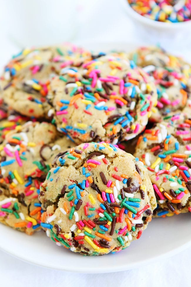 Chocolate Chip Cookies with Sprinkles