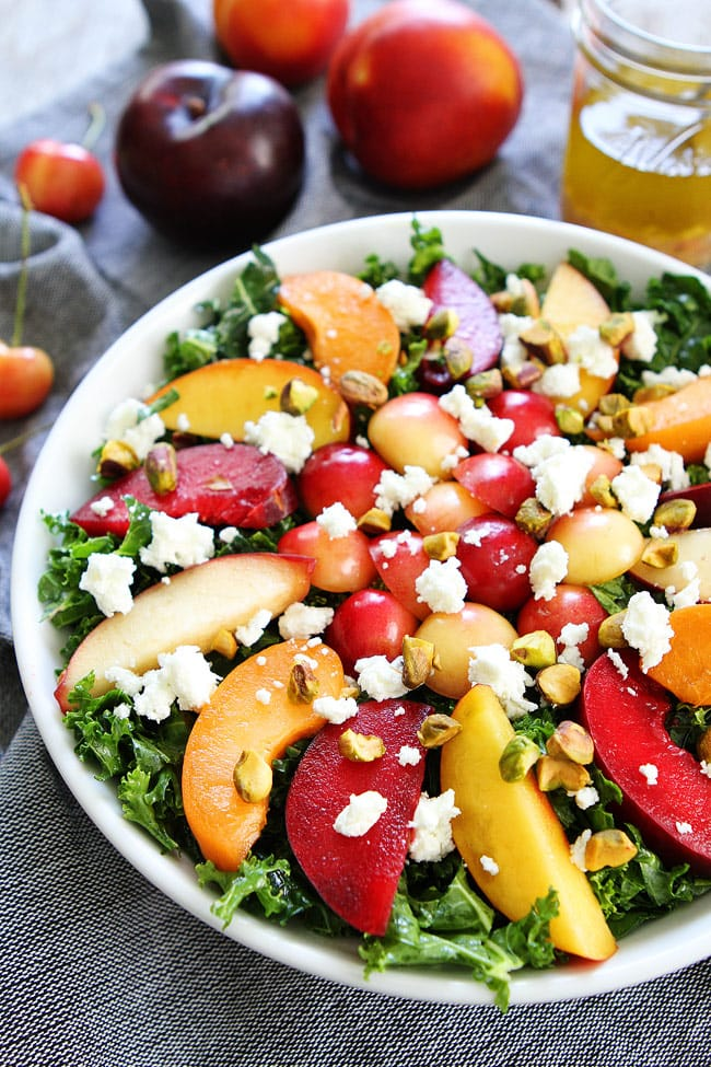 Stone Fruit Kale Salad Recipe