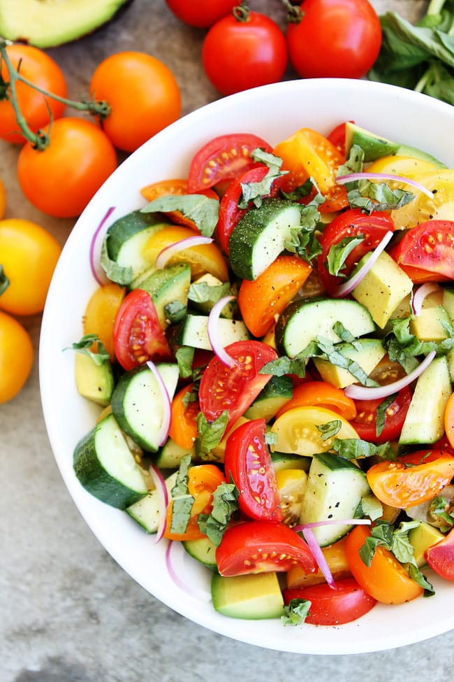 Tomato, Cucumber, and Avocado Salad Recipe