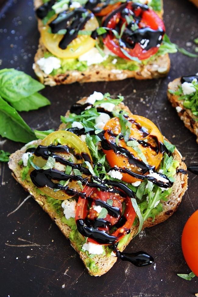 Avocado, Tomato, and Goat Cheese Toast Recipe