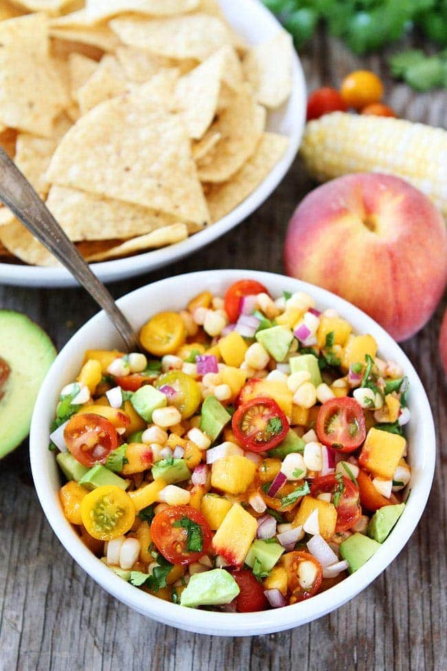 Peach, Corn, and Avocado Salsa Recipe