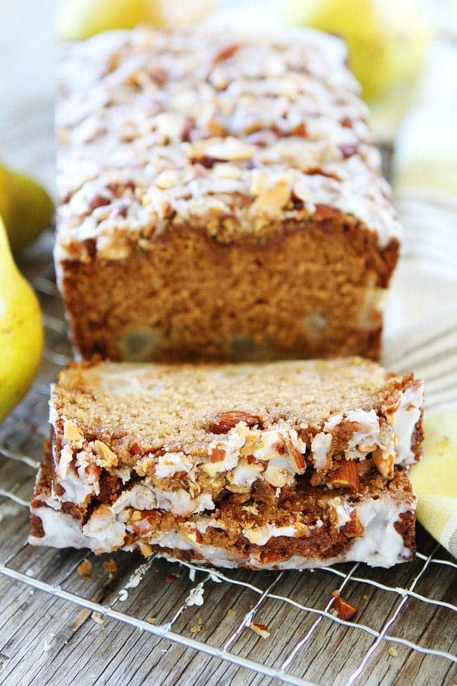 Pear Almond Streusel Bread