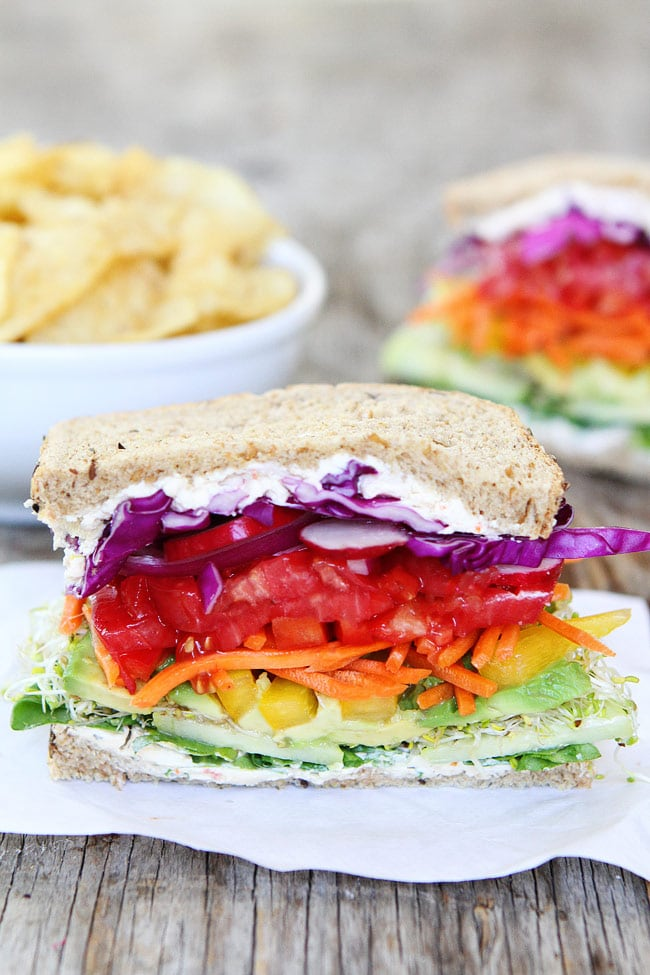 Rainbow Veggie Sandwich Recipe