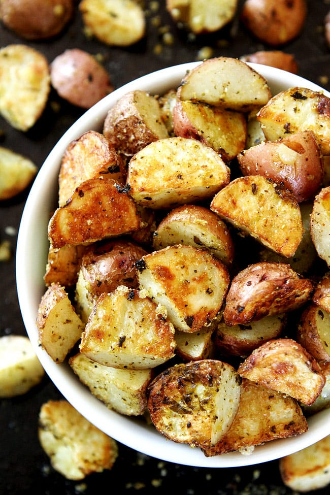 parmesan roasted potatoes roasted parmesan pesto potatoes two peas amp their pod 30230
