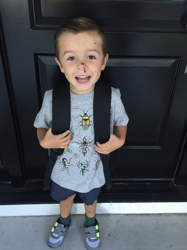 caleb-first day of school