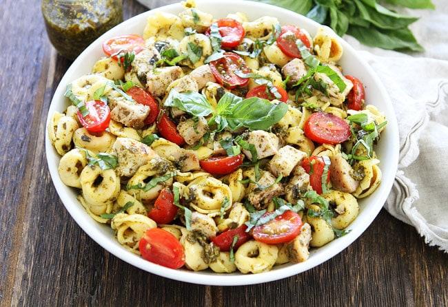 Easy Chicken Pesto Tortellini Recipe