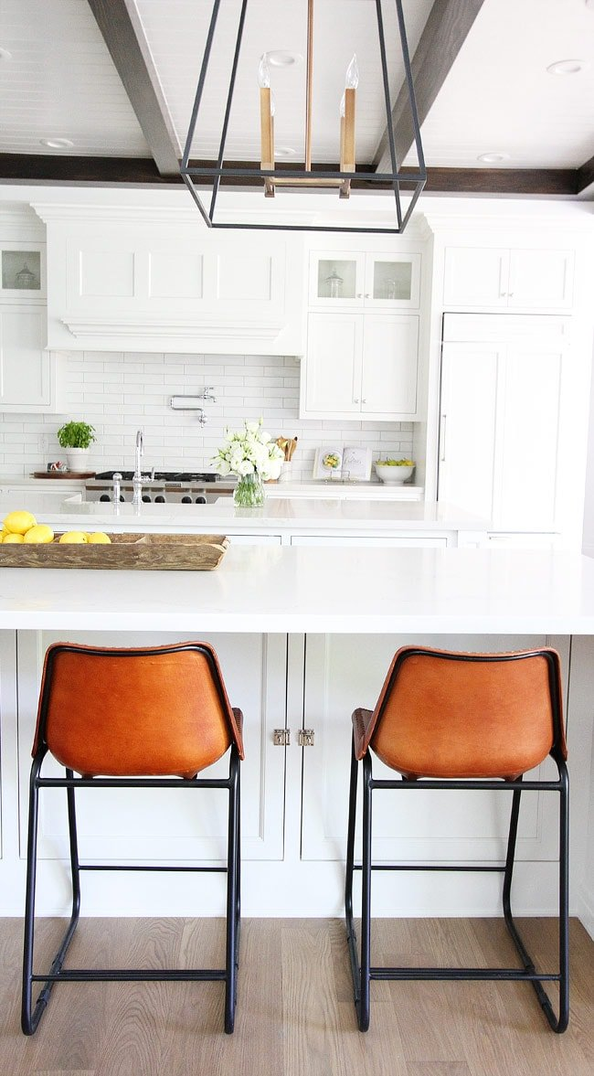 White Kitchen with Open Concept