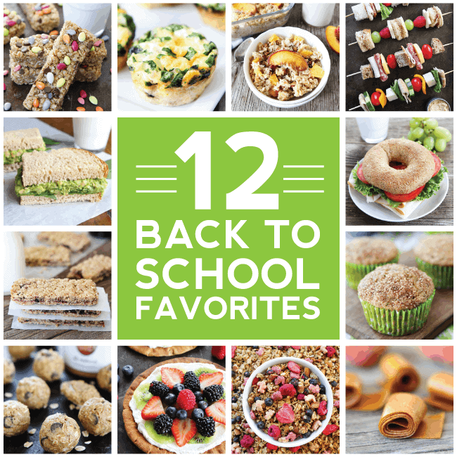 12 Back to School Recipes