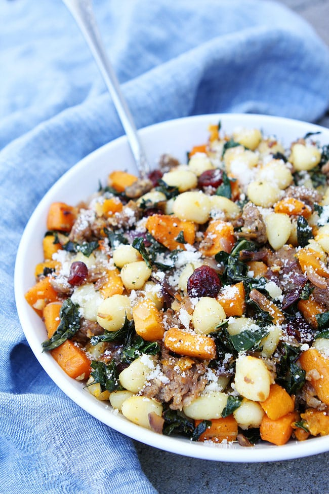 Butternut Squash, Sausage, and Kale Gnocchi Recipe