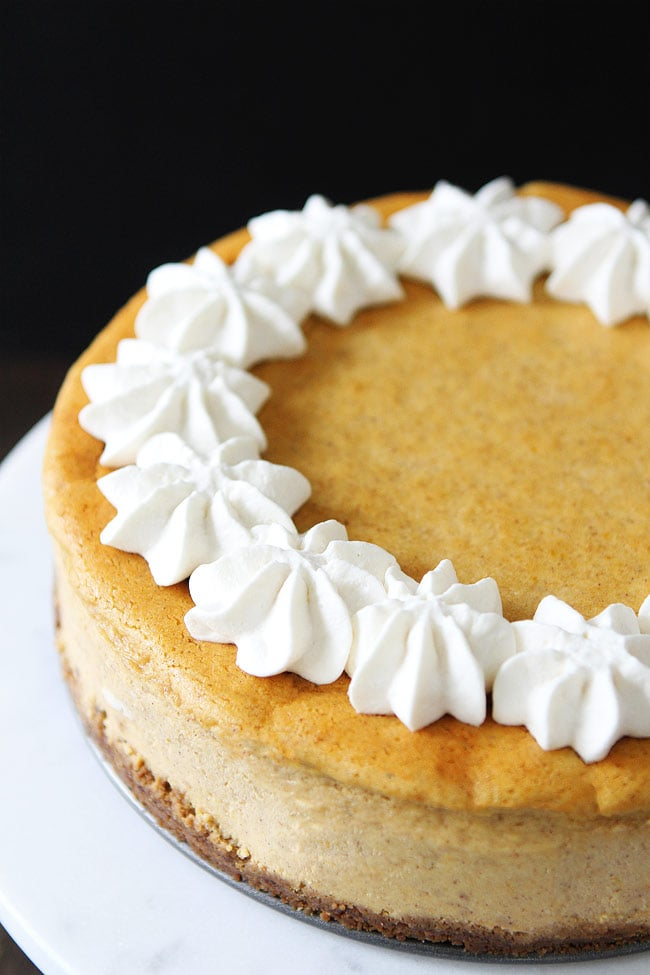 Pumpkin Cheesecake with Brown Butter Gingersnap Crust Recipe