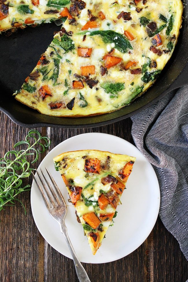 Sweet Potato, Kale, and Goat Cheese Frittata Recipe