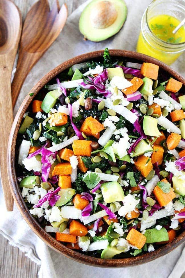 Sweet Potato and Black Bean Kale Salad Recipe