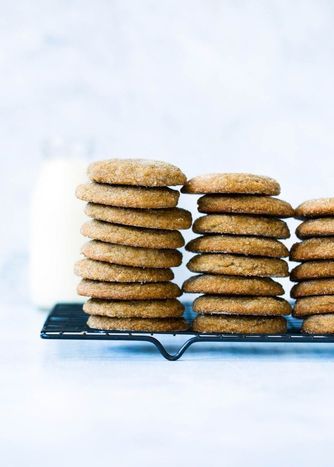 Soft Gingersnap Cookies Recipe Two Peas Their Pod