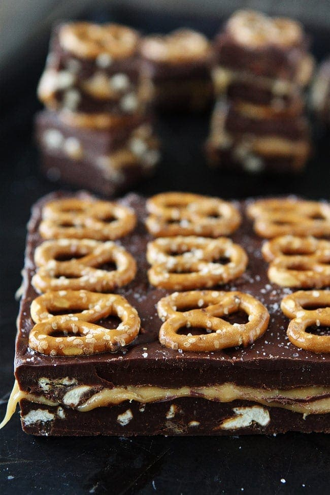 Salted Caramel Pretzel Fudge Recipe
