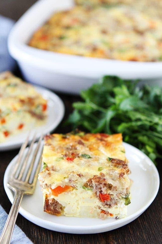 Sausage Cheese And Potato Egg Casserole Recipe