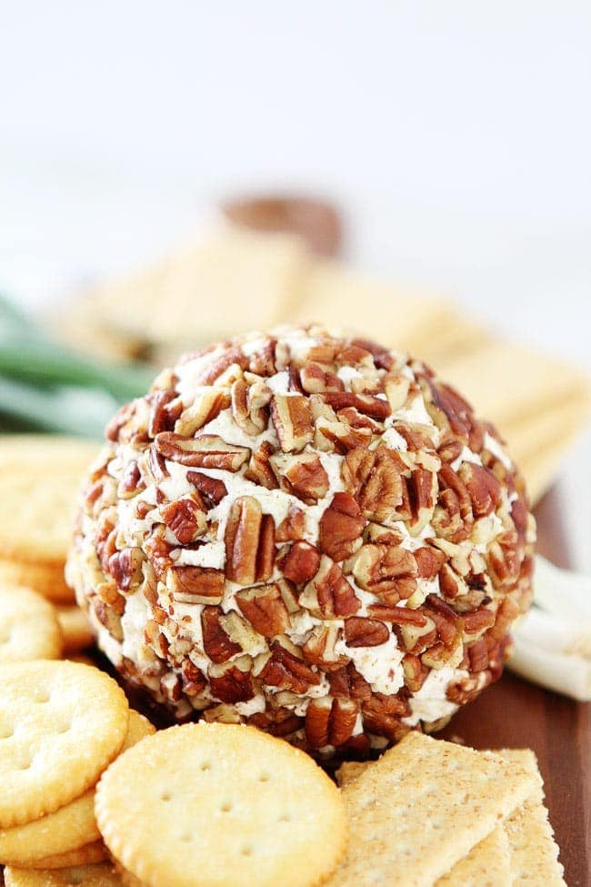 Easy Cheese Ball Recipe with pecans