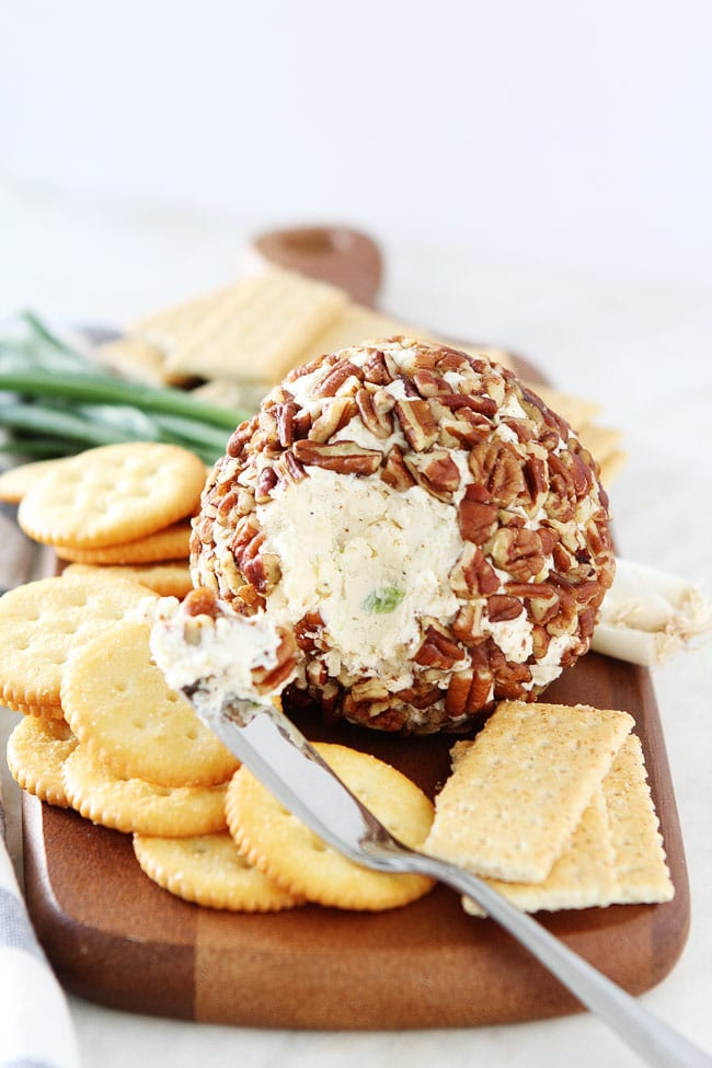 Cheese Ball Recipe with crackers