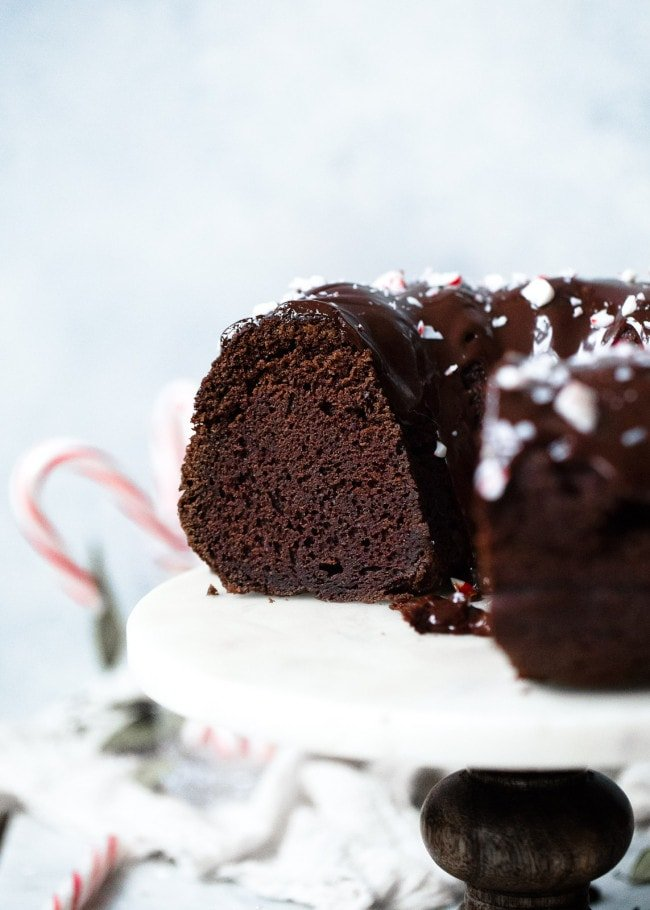 Chocolate Peppermint Bundt Cake Recipe