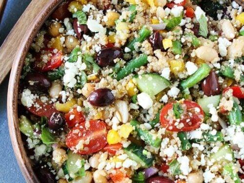 Three-bean Salad With Quinoa Recipe