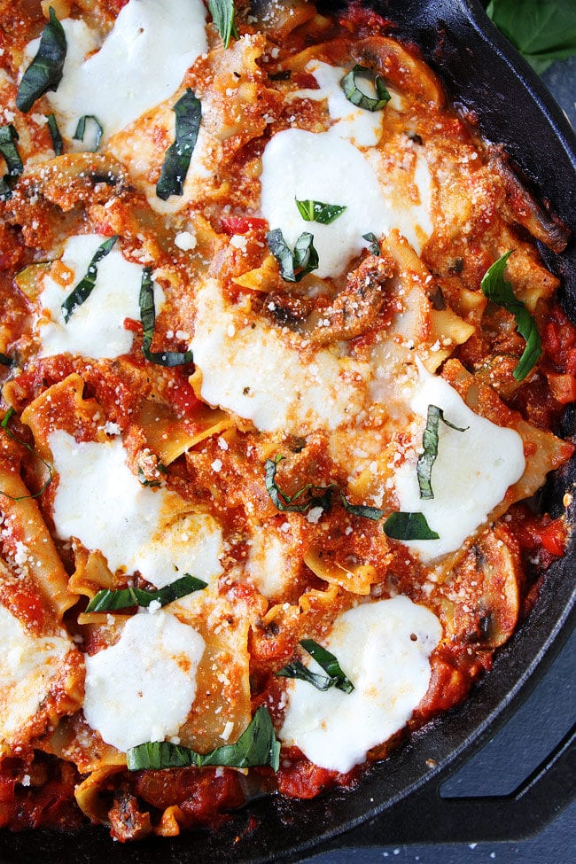 Easy Skillet Vegetable Lasagna Recipe