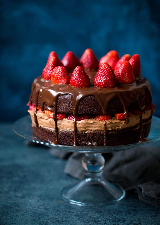 Strawberry Chocolate Cake Recipe Two Peas Their Pod