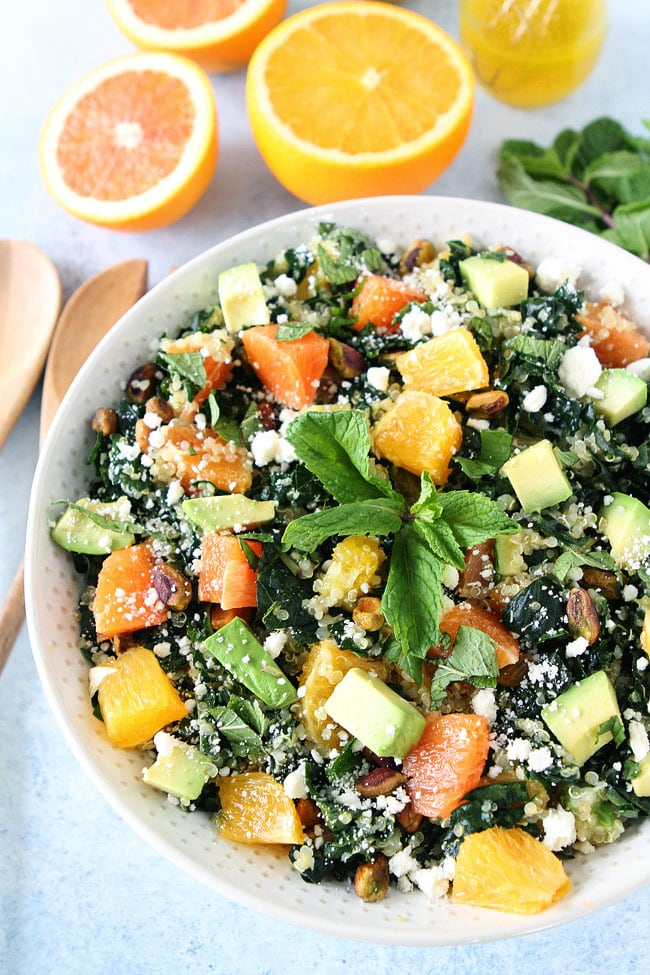 Orange, Avocado, and Kale Quinoa Salad Recipe