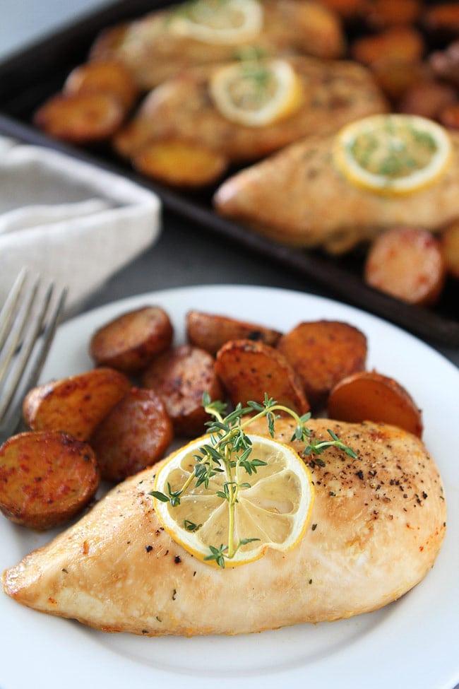 Sheet Pan Lemon Thyme Chicken Recipe