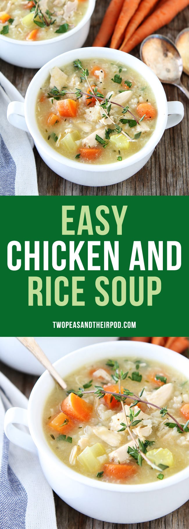 Easy chicken and rice soup recipe two peas their pod easy chicken and rice soup is a great quick and easy dinner recipe a great forumfinder Gallery