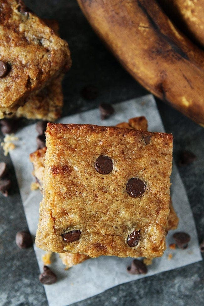 Brown Butter Banana Chocolate Chip Bars Recipe