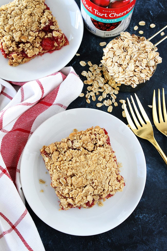 Cherry Oatmeal Bars Recipe