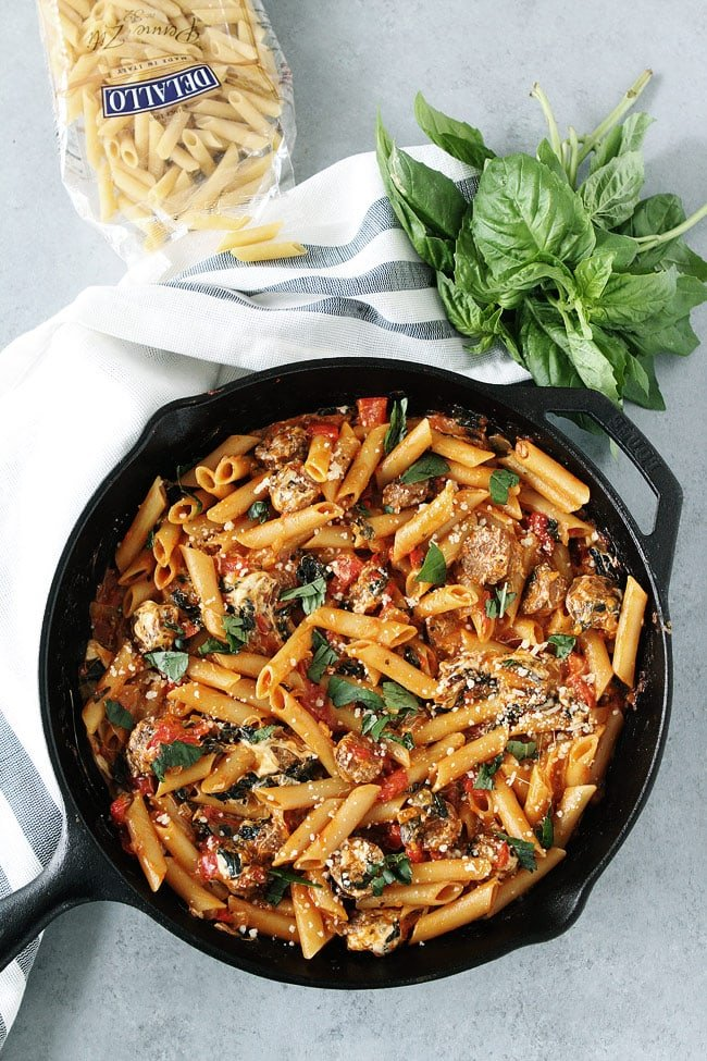 one pot sausage pasta recipe two peas their pod