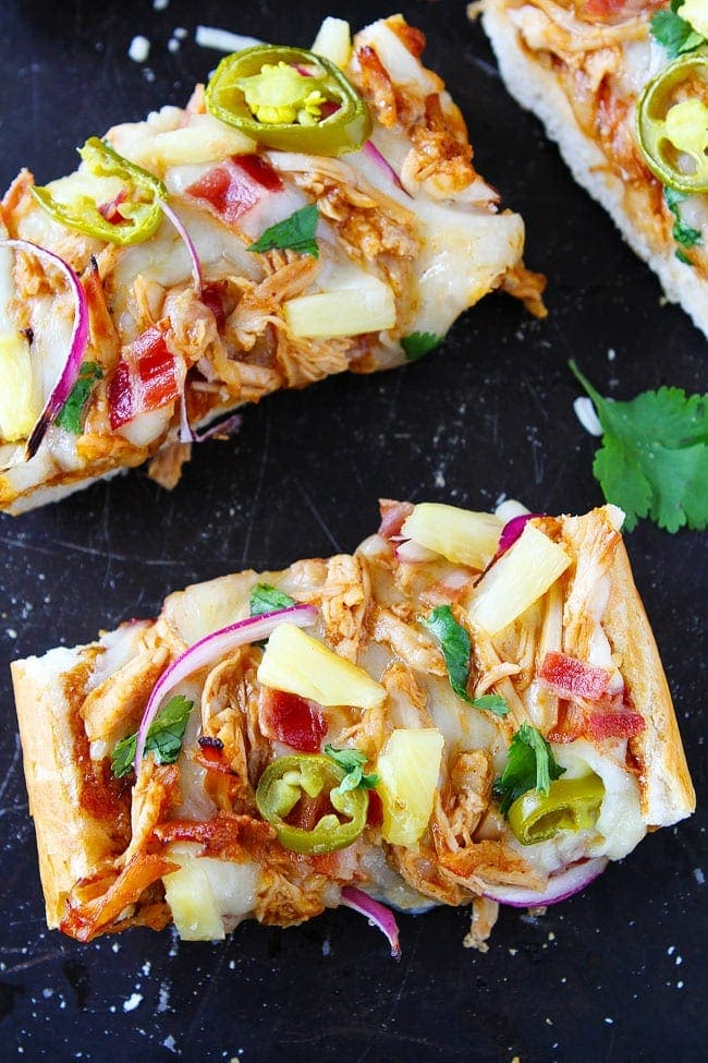 BBQ Chicken French Bread Pizza makes a great easy weeknight dinner.