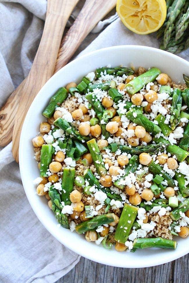 Asparagus Chickpea Quinoa Salad Bowl