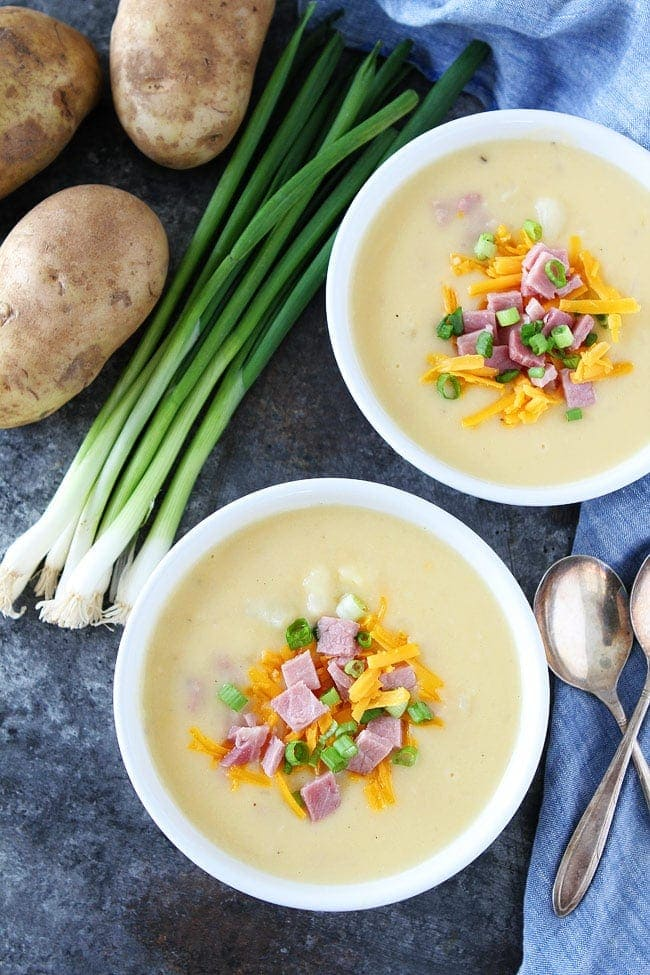 Cheesy Ham and Potato Soup Recipe