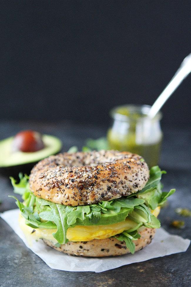 Avocado And Egg Sandwich With Tillamook Cheddar On Whole ...