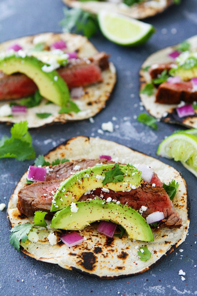 Easy Grilled Chili Lime Steak Tacos are great for taco Tuesday or any day!