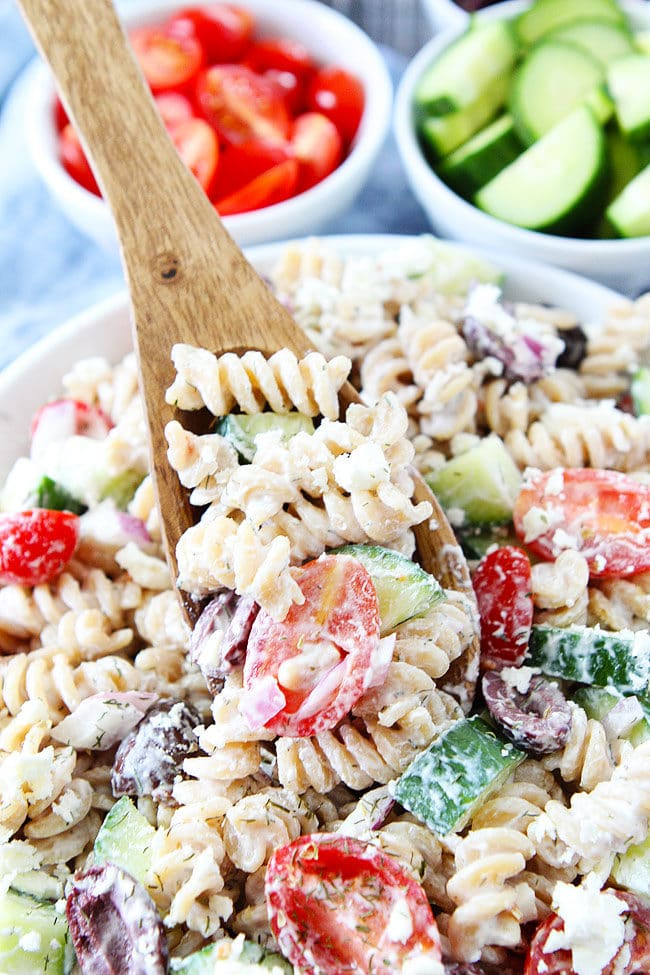 Creamy Pasta Salad with Feta