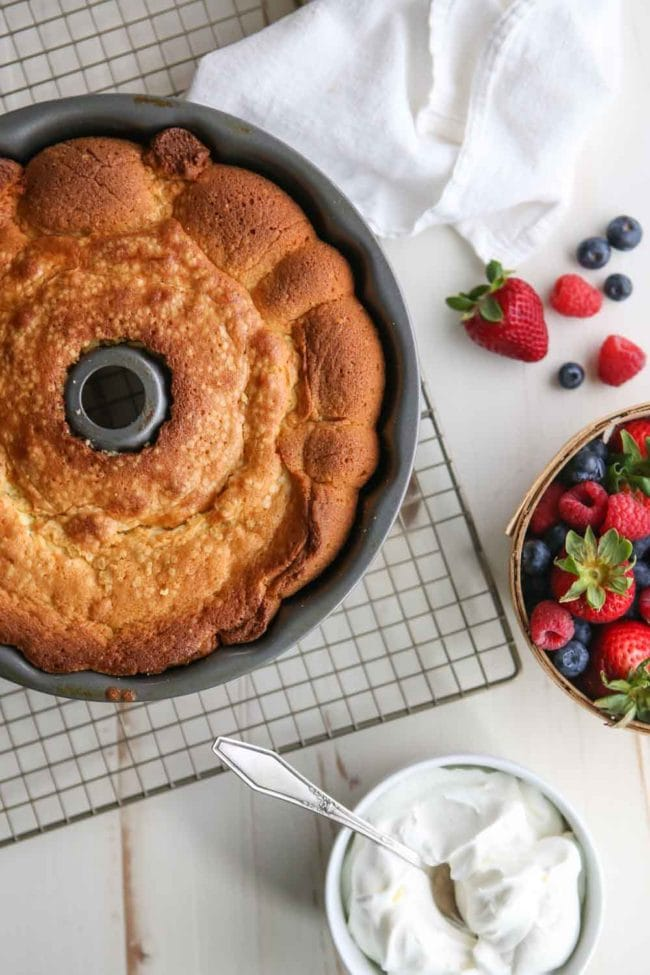 Cream Cheese Pound Cake Recipe Easy