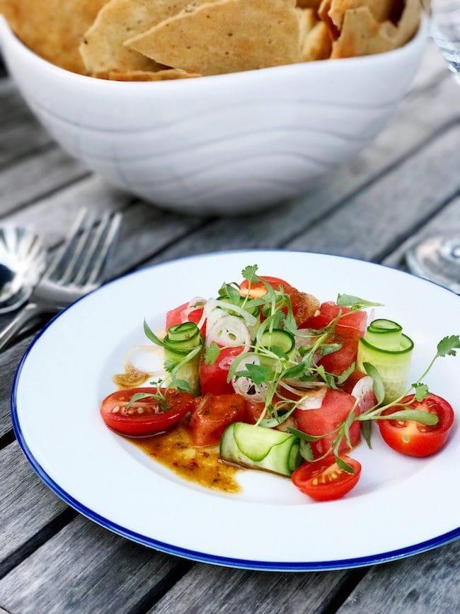 watermelon cucumber tomato salad