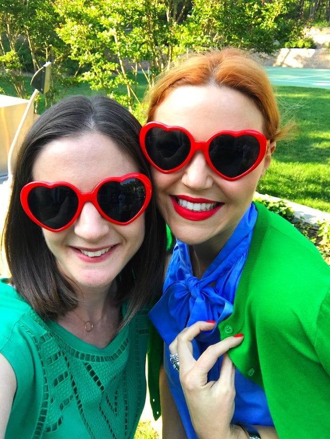 Hamptons heart glasses