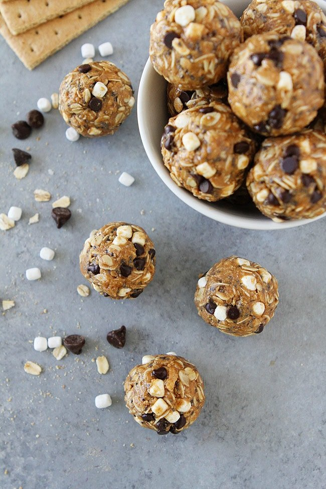 S'mores Energy Bites are an easy, no-bake, protein-packed snack that kids and adults love!