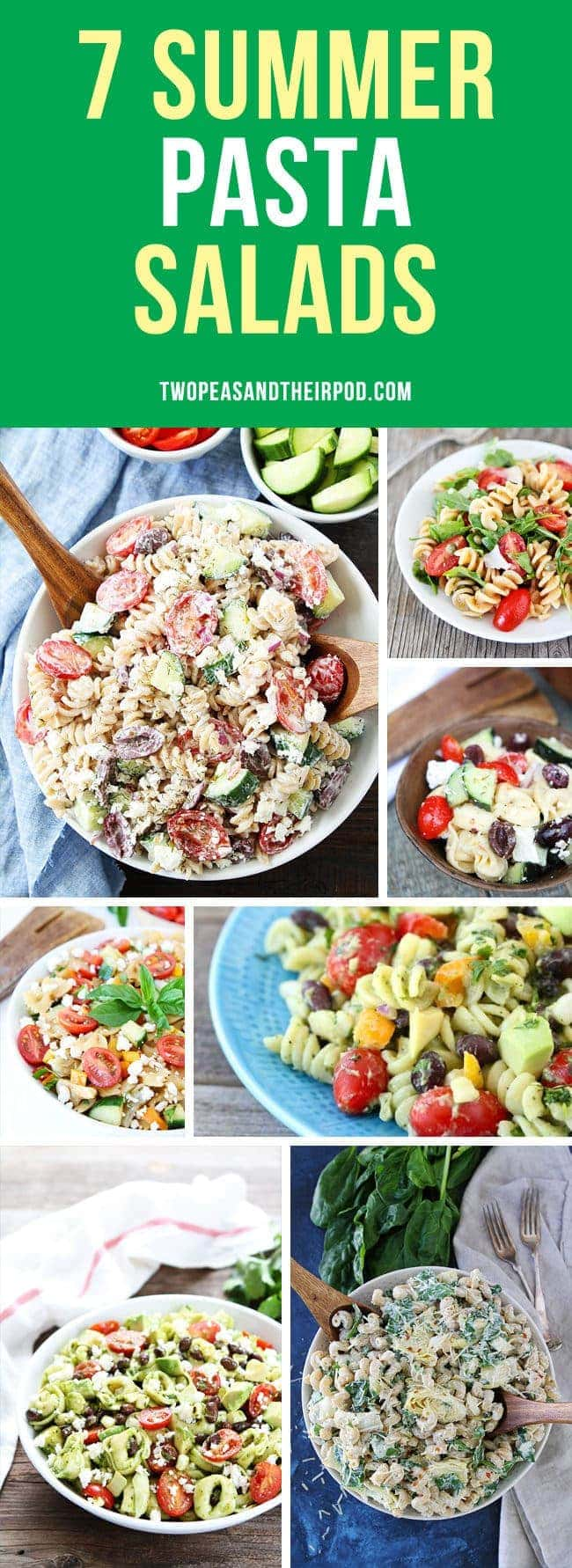 7 Summer Pasta Salad Recipes that are perfect side dishes for barbecues, picnics, and potlucks!