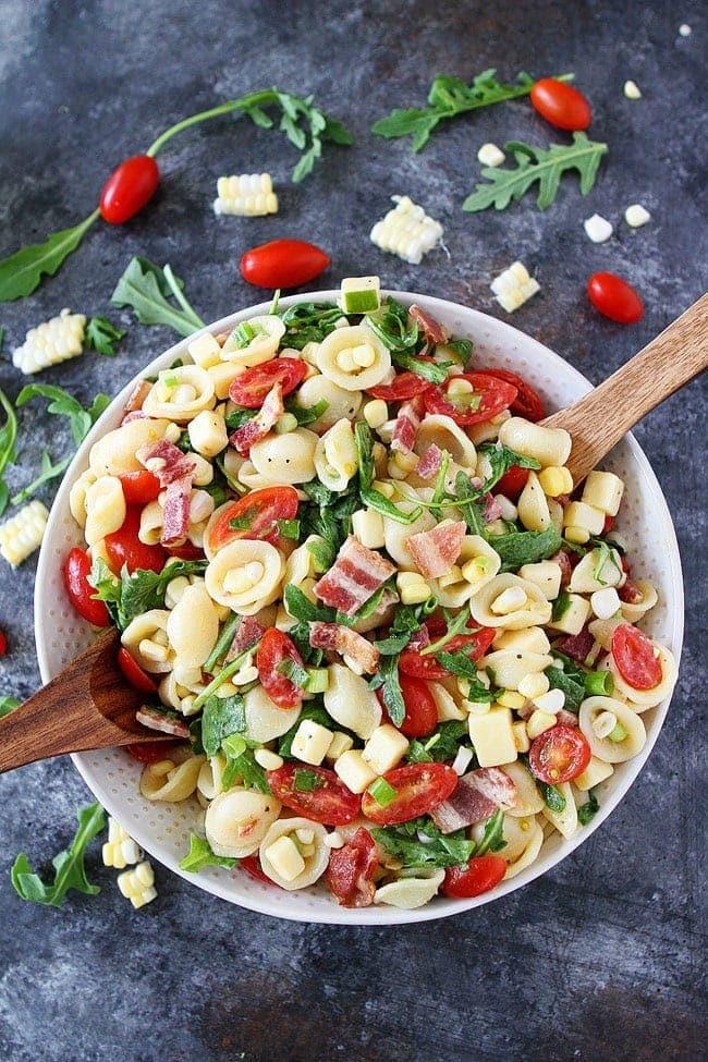 Bacon Corn Tomato Pasta Salad